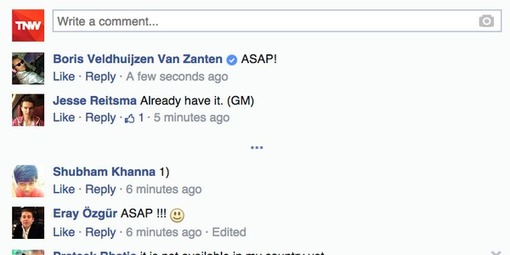 Facebook testing verified checkmark within comments